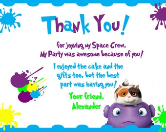 Home Movie Thank You Cards/Space/Alien/