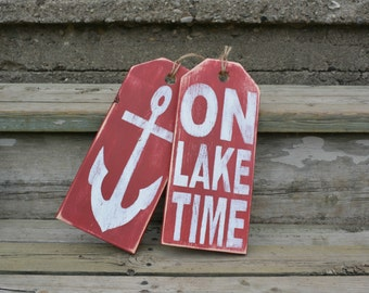 Nautical wood sign.  Rustic lake house decor.  Cottage decor.  Father's Day gift idea.  Boating sign.