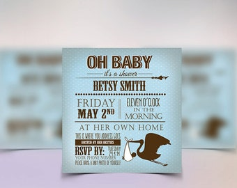 Boy Baby Shower Invitations for your upcoming celebration. Accompany with other Boy Baby Shower party printables.