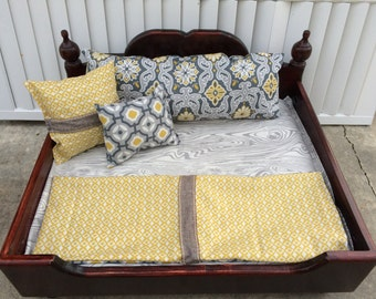 Gorgeous Custom Pet Bed with Custom Sewn Bedding