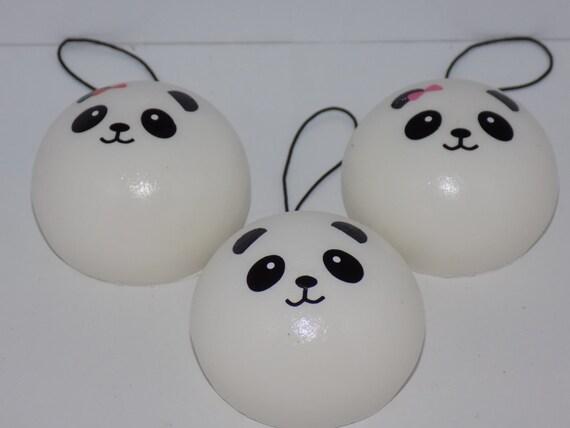Squishy Steam Bun : Panda Squishy Steam Bun Phone Charm 5cm by KyokoAndYuki on Etsy