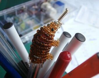 Beaded Echidna Pen-topper