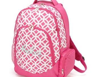 Monogram Backpack Pink Sadie