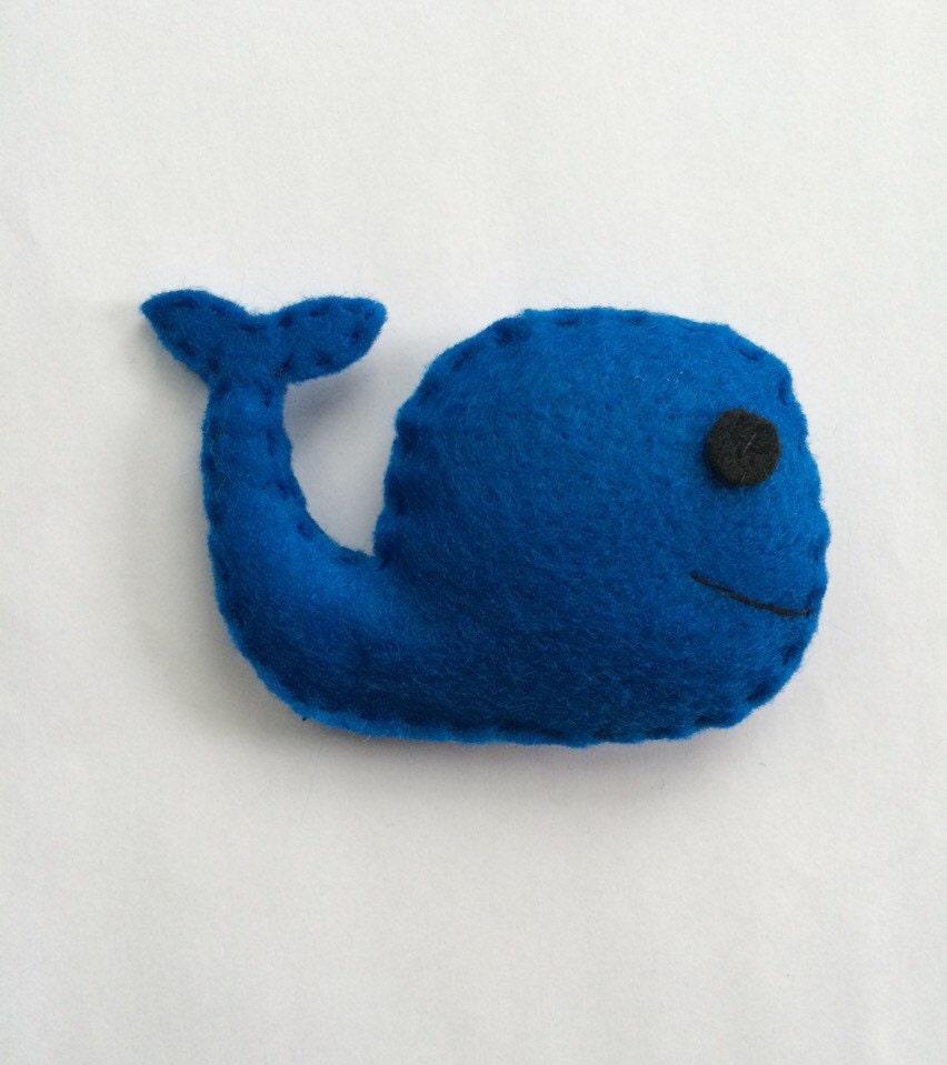 felt whale catnip cat toy blue handmade