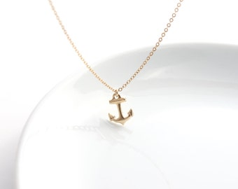 Anchor charm necklace/14k gold filled Anchor charm necklace/wedding gift/Wedding jewelry/Anchor necklace/Anchor pendant necklace