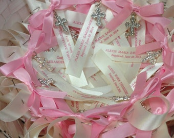 Personalized Martyrika or Witness Pins for Greek Orthodox Christenings