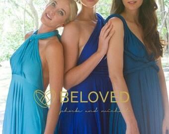 Convertible Infinity Dress Bridesmaid Dress Water Blue / Light Blue
