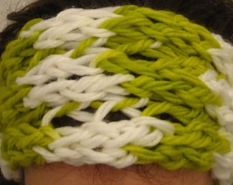 Warm headband in spring colours! EGST