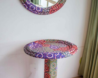 Table & Mirror Art Mosaic  Colors Colection