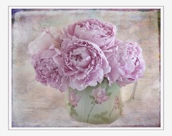 Pink Peony Photo,Romantic, Pink Flower Photo , Flower Wall Art, Nursery Decor, Girls Room, Shabby Chic, Bedroom Decor,Floral Art Print, Pink