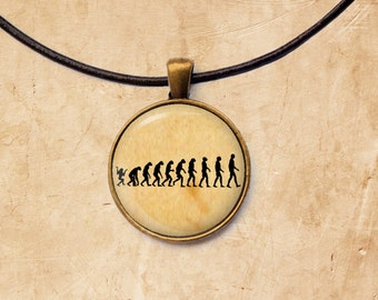Nature necklace Evolution pendant Antique jewelry
