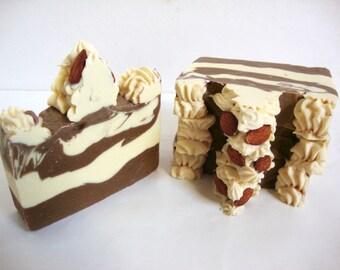 Vanilla Almond Cake Soap | Vegan Soap | Cold Process Soap | Artisan Soap | Handmade Soap | HandCrafted Soap| Shea Butter | Palm Free