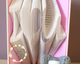 I Heart U / I Love U Book Folding Pattern - Instant Download PDF (230 Folds)