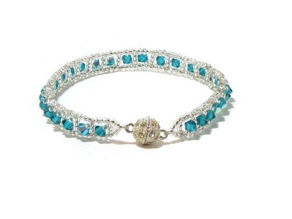 swarovski crystal bracelet tennis bracelet by. Black Bedroom Furniture Sets. Home Design Ideas