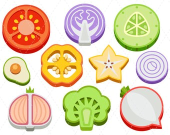 Vegetables clip art cute veggies clipart digital clip art avocado - Vegetable Clips On Etsy A Global Handmade And Vintage
