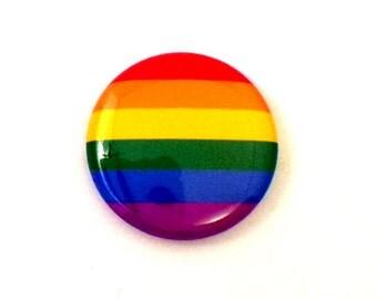 """1"""" Gay Pride Button - Gay Pride Magnet - Gay Pride Button - LGBT Pride Magnet - LGBT Pride Button - LGBTQIA Button"""