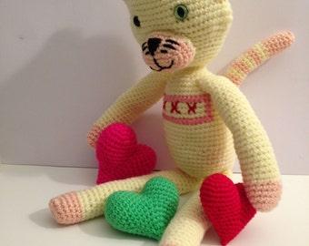 Cat amigurumi doll