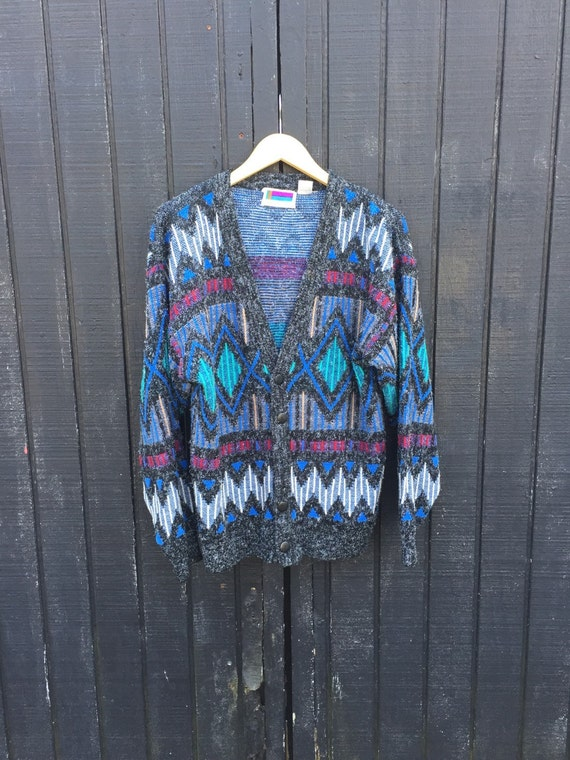 MENS 90s Geometric Cardigan