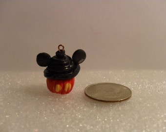 Polymer Clay Mickey Mouse Cupcake Charm