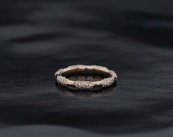 Beautiful Pave Lace Band