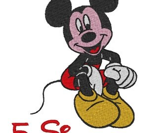 Mickey Mouse embroidery design. (5 Sizes)