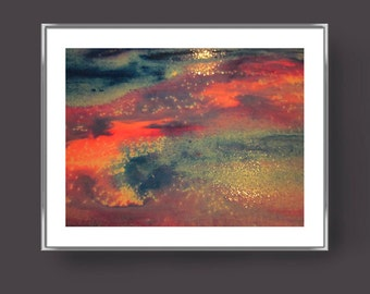 SHEPHERD'S DELIGHT Abstract modern art print from original mixed media