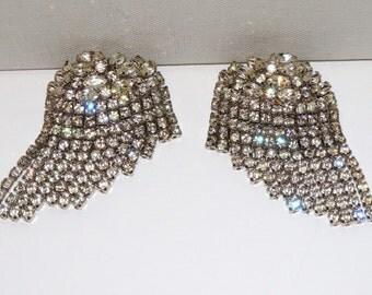 Vintage  Rhinestone Gorgeous Stud Earrings.  Free Shipping