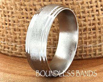 Titanium Ring Comfort Fit Custom Engraving Wedding Band Engagement Anniversary Man Wedding Band New Design Laser Engraved 8mm Classic Modern