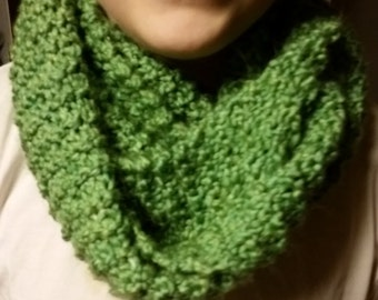 Florida Keys Green Hand Knitted Infinity Scarf