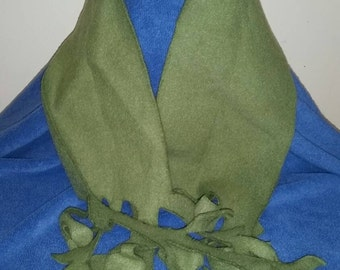 Hand made soft olive green cozy scarf