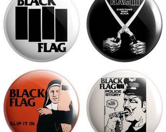 Black Flag pinback buttons