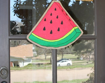 Watermelon Burlap Door Hanger