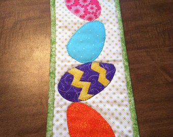 """Easter Egg Stack!  Skinny wall hanging/table topper 21""""x6"""""""