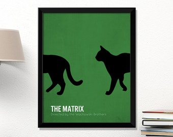 Matrix movie poster, minimalist, cinema, The Matrix, contemporary art