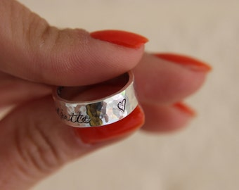 SALE* Hallmarked Personalized Sterling Silver Ring/ Personalised wedding ring/ Promise Ring/ Chinese ring/ Hand engraved ring