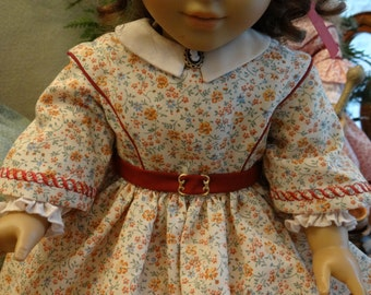 1850s Day Dress for American Girl Doll or 18 inch Doll