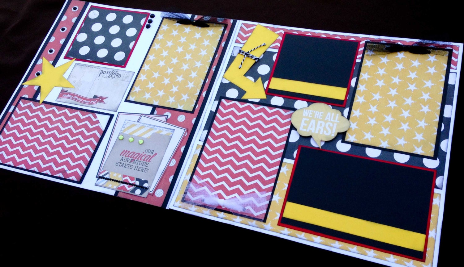 12X12 Scrapbook Page 'Magical Adventure' Themed Kit