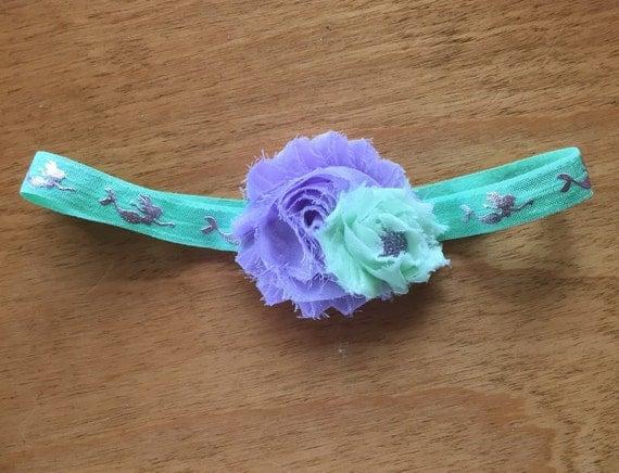 Under the sea mint green and purple mermaid headband