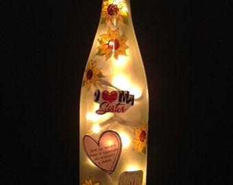 Sister Wine Bottle Light