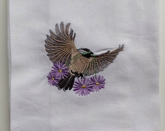 Spring Chickadee Kitchen Towel