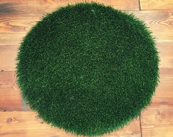 Round Synthetic Grass Pad