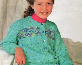 Knitting Pattern PDF Child's Cardigan