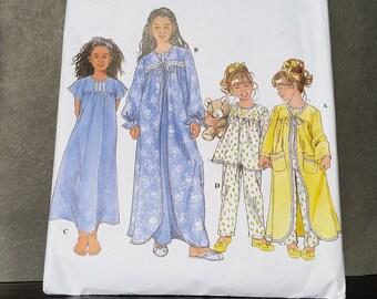 Simplicity 8488 Girls' Sleepwear Size HH (3, 4, 5, 6)