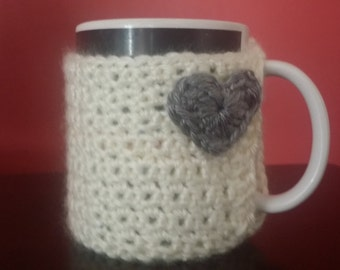 cup cosy with built in coaster.