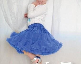 Royal Blue Pettiskirt, Little Girl, Toddler, Big Girl - Sizes XS, S and M