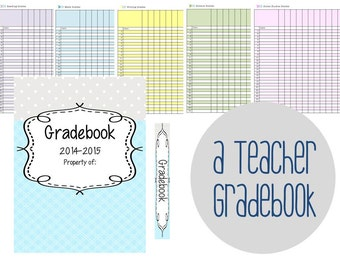 Teacher Gradebook Pages - All Elementary School Subjects