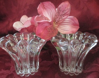 Vintage Crystal Taper Candle Holders Made In West Germany