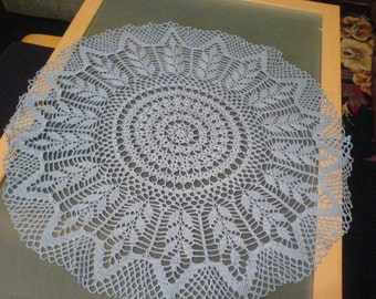 White crochet tablecloth