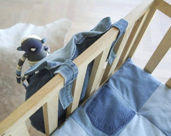 crib bag organizer jeans - toys organizer - storage bag - play pen - ecofriendly design