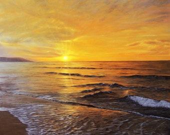 Sunset original oil painting